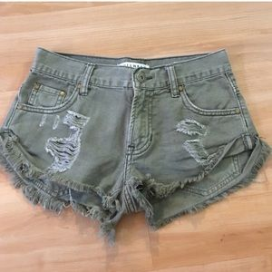 New Olive Green Shorts